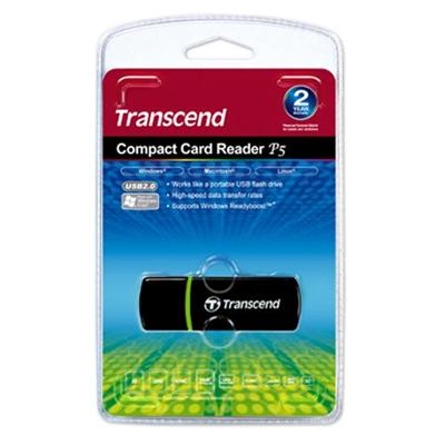 Transcend TS-RDP5K RDP5 - Card reader (SD  microSD  SDHC  microSDHC  SDXC  microSDXC  SDHC UHS-I  SDXC UHS-I  microSDHC UHS-I  microSDXC UHS-I) - USB 2.0