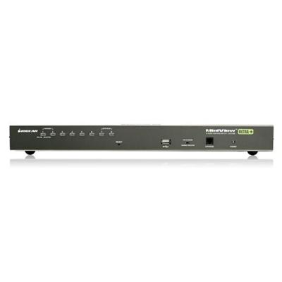 Iogear GCS1808 MiniView Ultra+ GCS1808 - KVM / USB switch - PS/2  USB - 8 x KVM / USB - 1 local user - rack-mountable