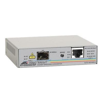 Allied Telesyn At-gs2002/sp-60 At Gs2002/sp - Media Converter - 10base-t  100base-tx  1000base-t  1000base-x - Rj-45 / Sfp (mini-gbic) - External
