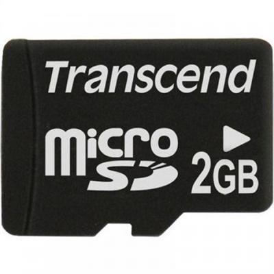 Transcend TS2GUSDC Flash memory card - 2 GB - microSD