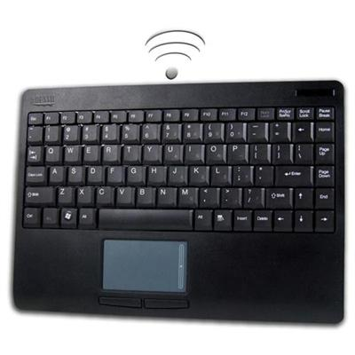 Adesso WKB-4000UB SlimTouch Wireless 2.4 GHz RF Mini Touchpad Keyboard - USB - Black