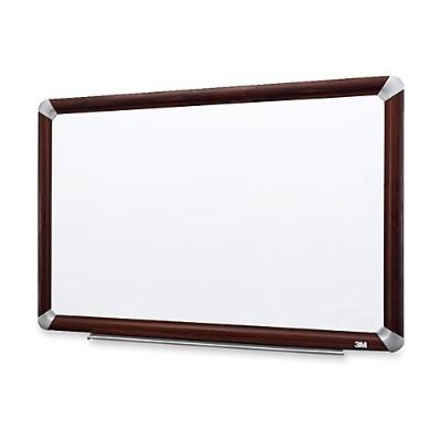 3M M2418FMY Melamine Dry Erase Board  Mahogany Finish Frame 24 in x 18 in