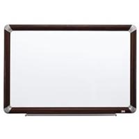 3M M4836FMY Melamine Dry Erase Board  Mahogany Finish Frame  48 in x 36 in
