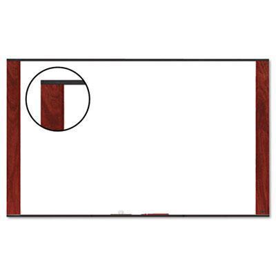 3M M4836MY Melamine Dry Erase Board  Mahogany Finish Frame  48 in x 36 in