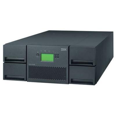 IBM 35734UL TS3200 Model L4U - Tape library - 38.4 TB / 76.8 TB - slots: 48 - no tape drives - max drives: 4 - external - 4U - bar code reader  encryption - for
