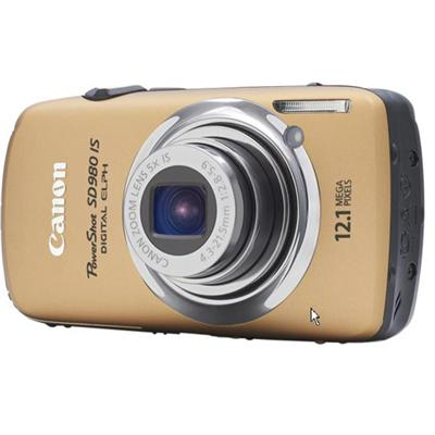 PowerShot SD980 IS 12.1 Megapixel Digital Camera - Gold