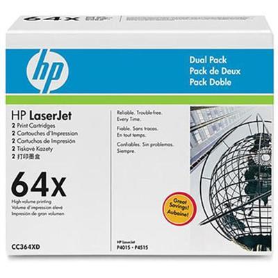 LaserJet CC364X Dual Pack Black Print Cartridges