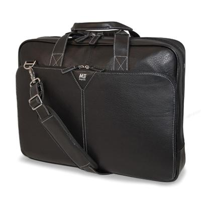 Mobile Edge MEBCL1 16 Deluxe Leather Briefcase - Black