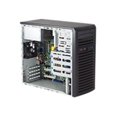 Super Micro CSE-731D-300B Supermicro SC731 D-300B - Mid tower - micro ATX 300 Watt - black - USB/FireWire/Audio/E-SATA