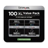 Lexmark Cartridge No. 100XL - 2-pack - High Yield - black - original - ink cartridge - LRP