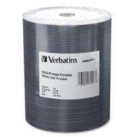 Verbatim DataLifePlus - 100 x DVD-R - 4.7 GB 16x - white - ink jet printable surface, printable inner hub - brick