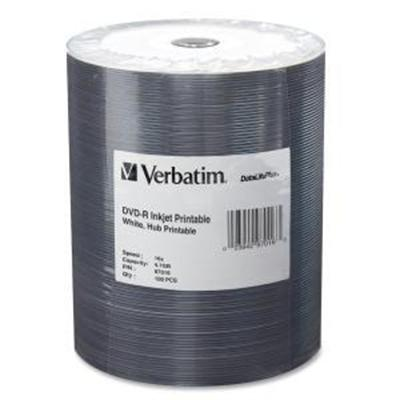 Verbatim 97016 DataLifePlus - 100 x DVD-R - 4.7 GB 16x - white - ink jet printable surface  printable inner hub - brick