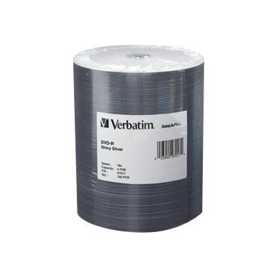 Verbatim 97017 DataLifePlus - 100 x DVD-R - 4.7 GB 16x - shiny silver - brick