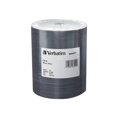 Verbatim 97020 Silk Screen Printable - 100 x CD-R - 700 MB ( 80min ) 52x - shiny silver - spindle