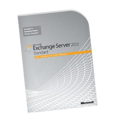 Microsoft 312-03977 Exchange Server 2010 Standard Edition - Box pack - 1 server  5 CALs - DVD - 64-bit - Win - English