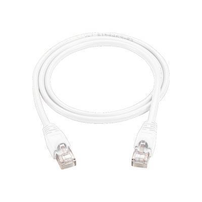 Black Box CAT6PC-001-WH-10PAK Patch cable - RJ-45 (M) to RJ-45 (M) - 1 ft - UTP - CAT 6 - molded  snagless  stranded - white ( pack of 10 )