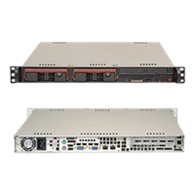 Super Micro SYS-5016I-TF Supermicro SuperServer 5016I-TF - Server - rack-mountable - 1U - 1-way - RAM 0 MB - SATA - hot-swap 3.5 - no HDD - DVD - MGA G200eW - G