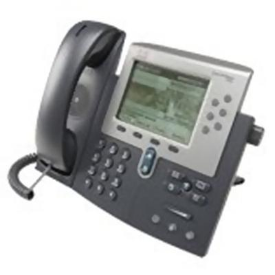 Cisco CP-7962G-RF Unified IP Phone 7962G - VoIP phone - SCCP  SIP - silver  dark gray - refurbished