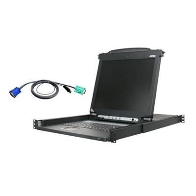 Aten Technology CL1016MUKIT 16-Port 17 inch LCD KVM Bundle with 16 USB Cables