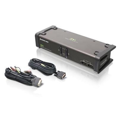 Iogear GCS1102 2-Port DVI KVMP Switch w/ Cables