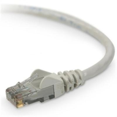 Belkin TAA980-10-GRY-S Patch cable - RJ-45 (M) to RJ-45 (M) - 10 ft - UTP - CAT 6 - snagless  stranded - gray