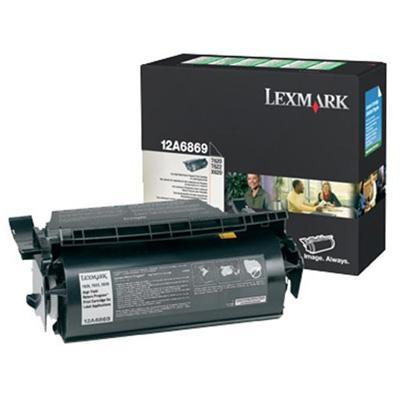Lexmark 12A6869 T620/T622 Black High Yield Return Program Print Cartridge for Label Applications