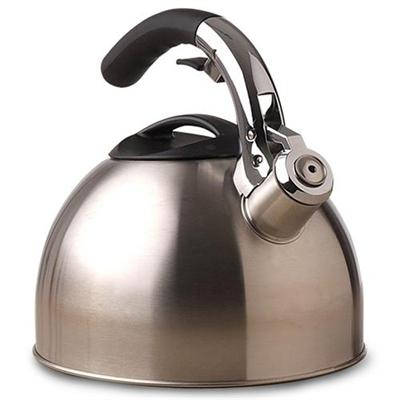 Primula Products PTK-6330 3 Qt Soft Grip Whistling Tea Kettle - Stainless Steel