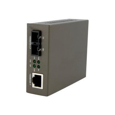 StarTech.com MCMGBSC15 Gigabit Single-Mode Fiber Ethernet Media Converter - SC - 15km - 1000Mbps Copper-to-Fiber Media Converter