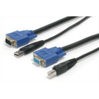 StarTech.com SVUSB2N1_15 15 ft. USB+VGA 2-in-1 KVM Switch Cable