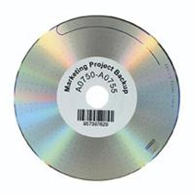 Dymo 30854 CD/DVD labels - black on white - 2.25 in round 160 label(s) ( 1 roll(s) x 160 ) - for  Desktop Mailing Solution Twin Turbo LabelWriter & Scale   Labe