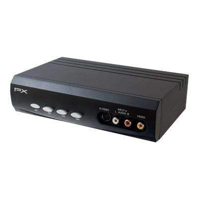 Cables To Go 28750 4x2 S-Video + Composite Video + Stereo Audio Selector Switch - Video/audio switch - desktop