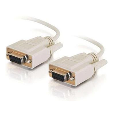 C2G 03045 DB9 Serial RS232 - Null modem cable - DB-9 (F) to DB-9 (F) - 10 ft - beige