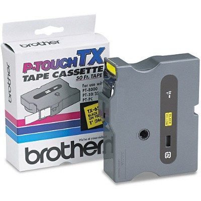 Brother TX6511 1 Black on Yellow