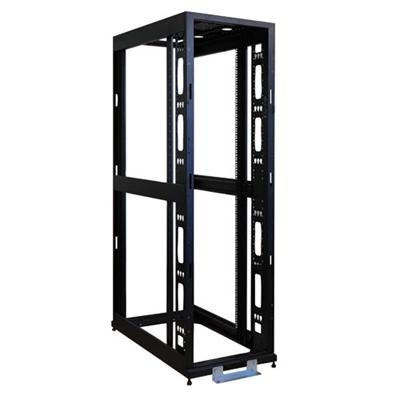 TrippLite SR42UBEXPND 42U 4-Post Open Frame Rack Enclosure Server Cabinet No Doors or Sides 3000lb Capacity