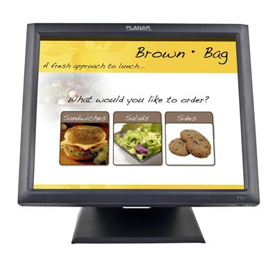 Planar 997-5969-00 PT1745R - LCD monitor - 17 (17 viewable) - touchscreen - 1280 x 1024 - 200 cd/m² - 1000:1 - 5 ms - VGA - speakers - black