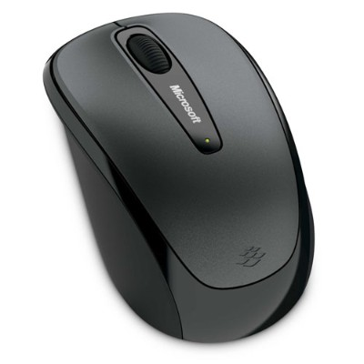Microsoft GMF 00010 Wireless Mobile Mouse 3500 Mouse optical 3 buttons wireless 2.4 GHz USB wireless receiver lochness gray