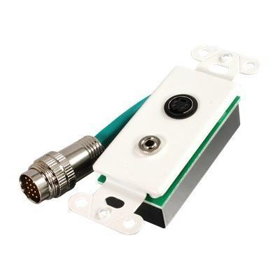 Cables To Go 40852 Rapidrun S-video   3.5mm Stereo Audio Break-away Wall Plate - Wall Plate - S-video / Audio
