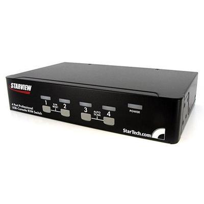 StarTech.com SV431DUSBU 4 Port 1U Rack Mount USB KVM Switch with OSD