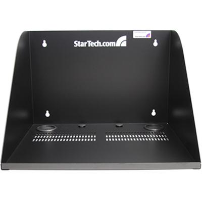 StarTech.com WALLSHELF 17in Deep Vented Server Room Equipment Wall Mount Shelf - Cabinet - wall mountable - black - 17