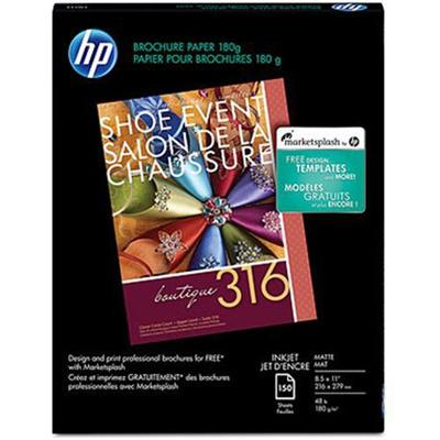 HP Inc. CH016A Inkjet Matte Brochure Paper - 8.5 x 11 in (150-sheet)