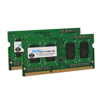 Edge Memory PE22545202 2GB (2X1GB) PC3-10600 DDR3 SDRAM SODIMM 240-pin Memory Module