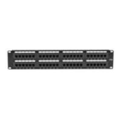 Black Box JPM5E48A Economy - Patch panel - RJ-45 X 48 - 2U - for P/N: CAT6PC-025-GR  CAT6PC-025-OR  CAT6PC-025-RD  CAT6PC-025-WH  CAT6PC-025-YL