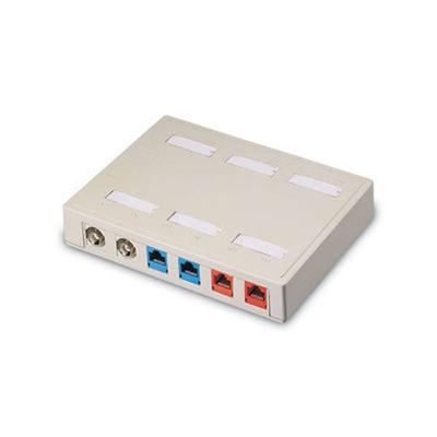 Cables To Go 03849 Premise Plus Snap-in - Surface mount box - white - 12 ports