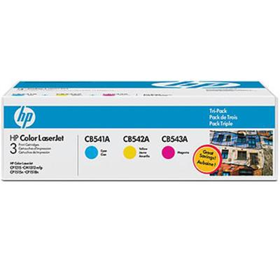 Color LaserJet CB541A/CB542A/CB543A Tri-pack Print Cartridges