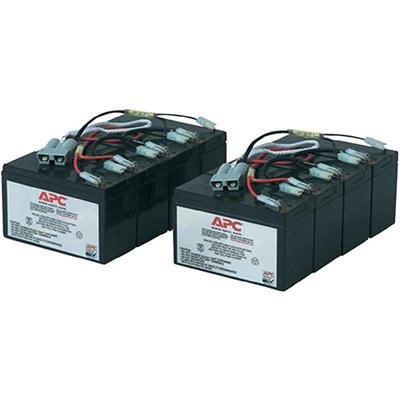 APC RBC12 Replacement Battery Cartridge #12 - UPS battery - 2 x lead acid - black - for P/N: DL5000RMT5U  SU5000R5TBX114  SU5000R5TBXFMR  SU5000R5T-TF3  SU5000R