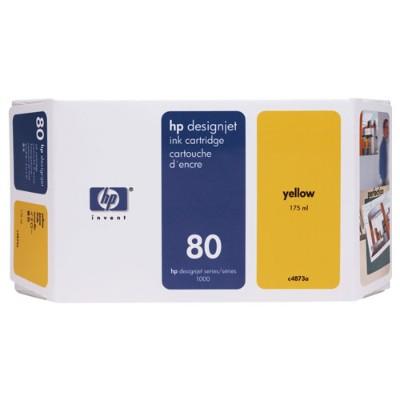 HP Inc. C4848A 80 - 350 ml - yellow - original - ink cartridge - for DesignJet 1050c  1050c plus  1055cm  1055cm plus