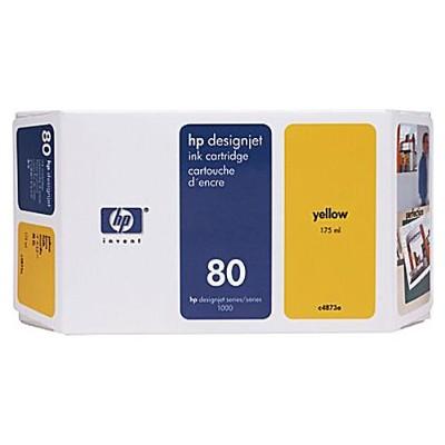 HP Inc. C4873A 80 - 175 ml - yellow - original - ink cartridge - for DesignJet 1050c  1050c plus  1055cm  1055cm plus