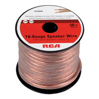RCA 50-foot  16-Guage Speaker Wire connects speakers to you're A/V receiver or amplifier