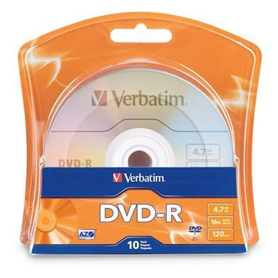 Verbatim 96938 10 x DVD-R - 4.7 GB (120min) 16x - blister