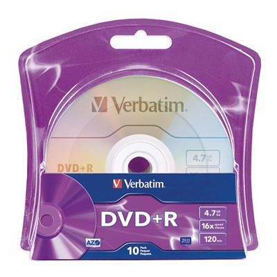 Verbatim 96942 10 x DVD+R - 4.7 GB ( 120min ) 16x - blister